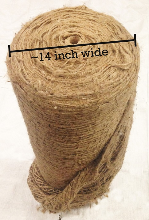 Jute Netting: 14 inch girth