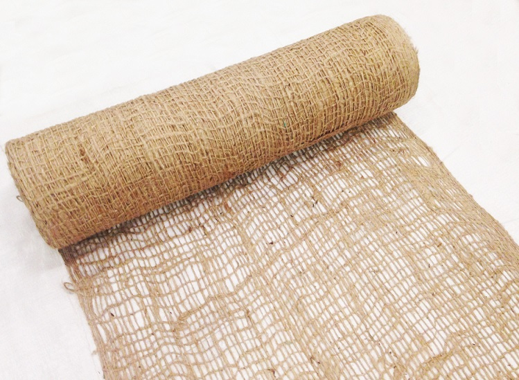Jute Netting Rolled Downward