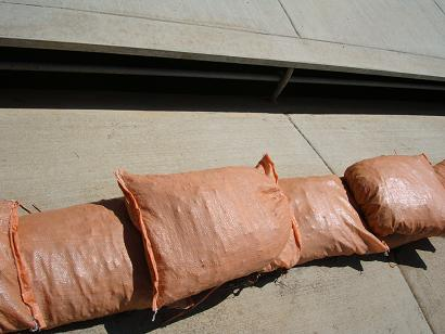 Poly Sandbags in Use