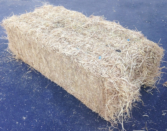Straw Bale From the Side