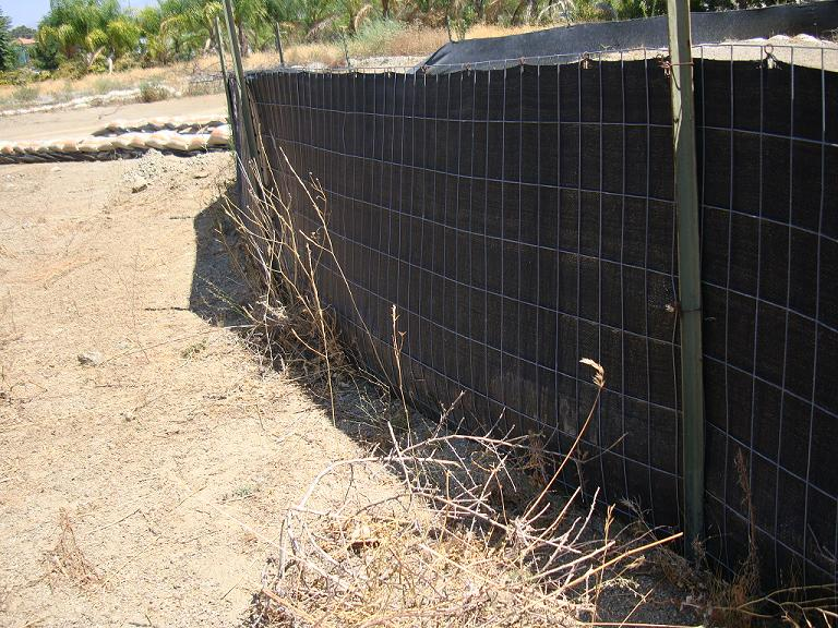 Wire Back Silt Fence